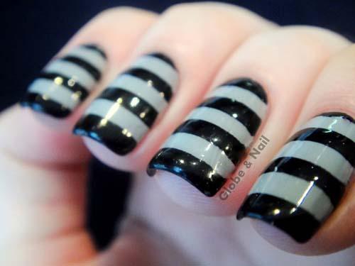 Μαύρα - γκρι νύχια (10)