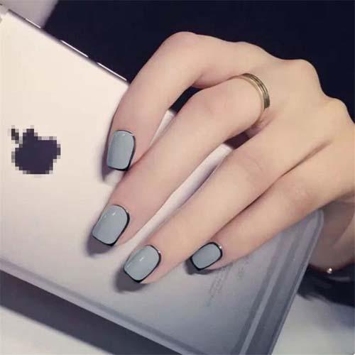 Μαύρα - γκρι νύχια (12)
