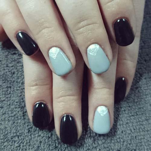 Μαύρα - γκρι νύχια (15)