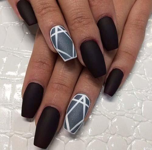 Μαύρα - γκρι νύχια (17)