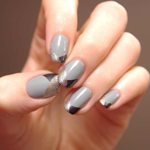Μαύρα - γκρι νύχια (22)
