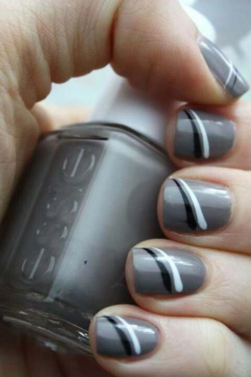 Μαύρα - γκρι νύχια (24)