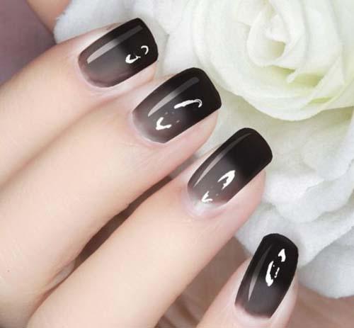 Μαύρα - γκρι νύχια (29)