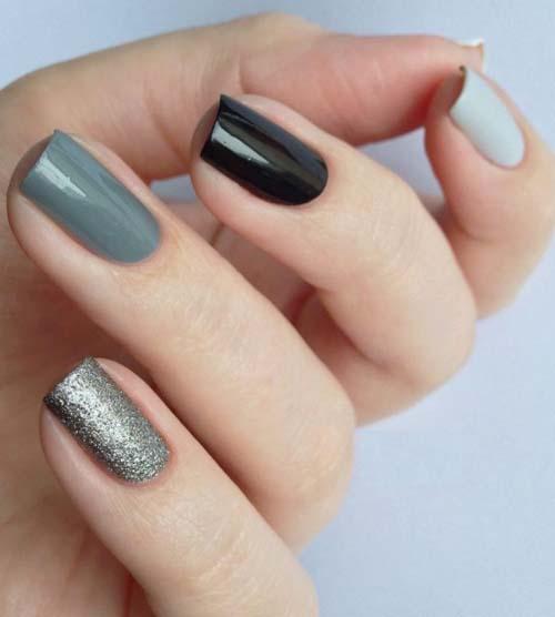 Μαύρα - γκρι νύχια (30)