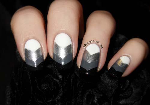 Μαύρα - γκρι νύχια (31)