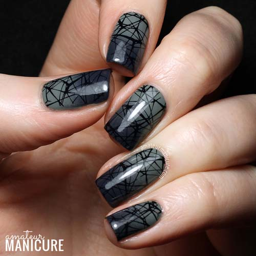 Μαύρα - γκρι νύχια (32)