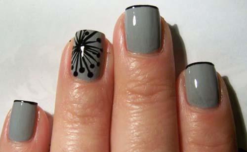 Μαύρα - γκρι νύχια (33)