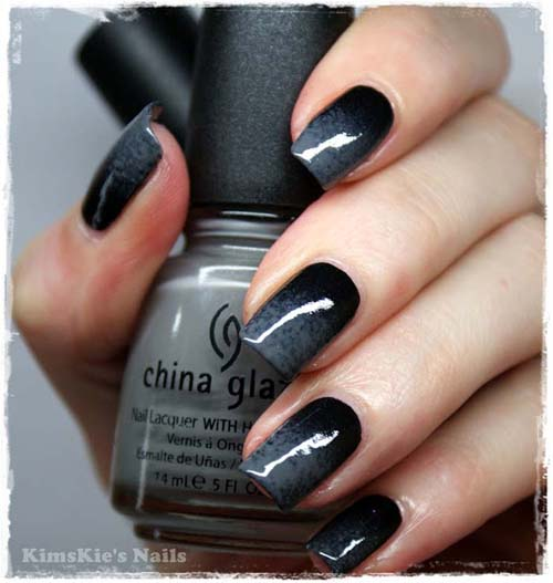 Μαύρα - γκρι νύχια (34)