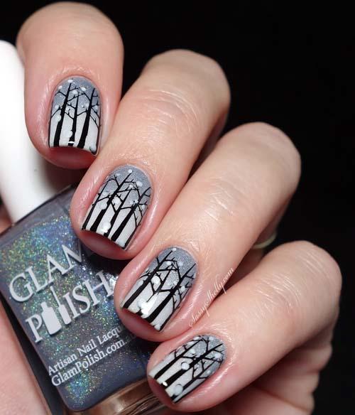 Μαύρα - γκρι νύχια (36)