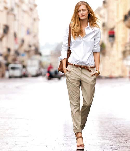 Υπέροχοι συνδυασμοί με ένα λευκό πουκάμισο (8)