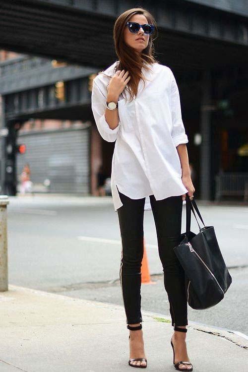 Υπέροχοι συνδυασμοί με ένα λευκό πουκάμισο (15)