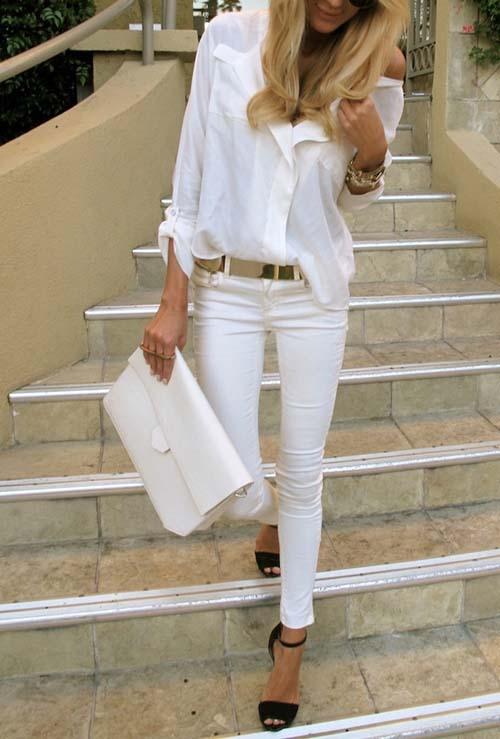 Υπέροχοι συνδυασμοί με ένα λευκό πουκάμισο (22)