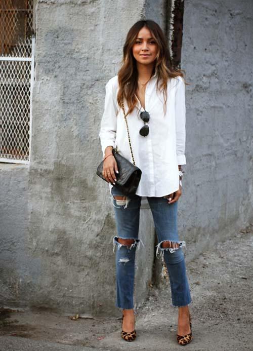 Υπέροχοι συνδυασμοί με ένα λευκό πουκάμισο (27)