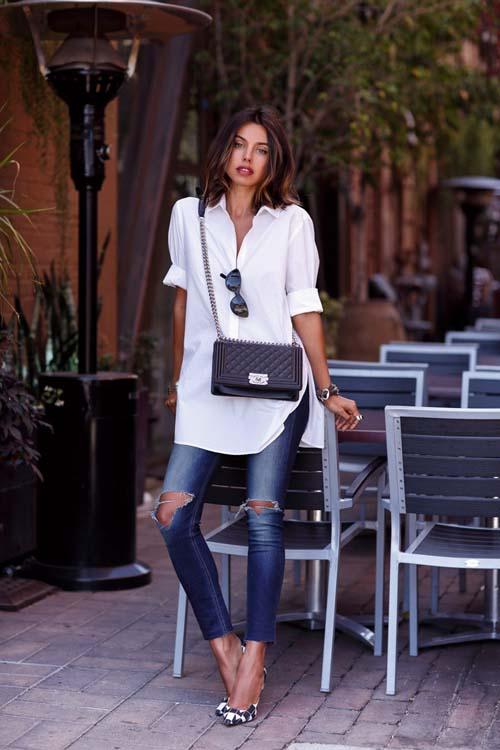 Υπέροχοι συνδυασμοί με ένα λευκό πουκάμισο (31)