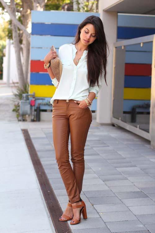 Πως να φορέσετε το δερμάτινο παντελόνι (2)