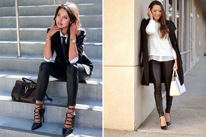 Πως να φορέσετε το δερμάτινο παντελόνι (22)