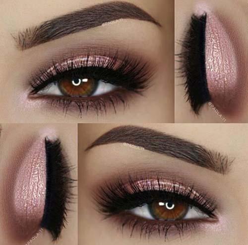 Ροζ μακιγιάζ ματιών (9)