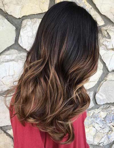 Light Brown Ombre - Σκούρα σοκολατί βαφή στις ρίζες και ανοιχτόχρωμο χρυσοκάστανο στο τελείωμα