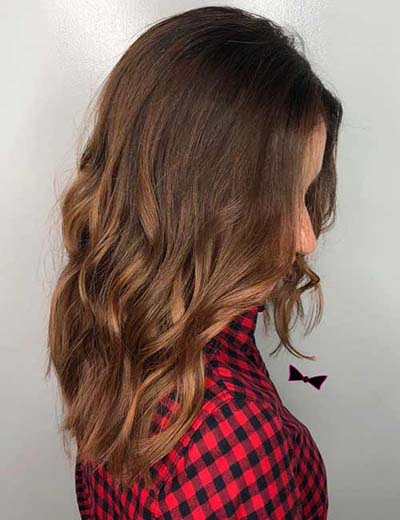 Cinnamon Sombre - Σκούρα καστανά μαλλιά σε απόχρωση του καφέ με κανελί άκρες