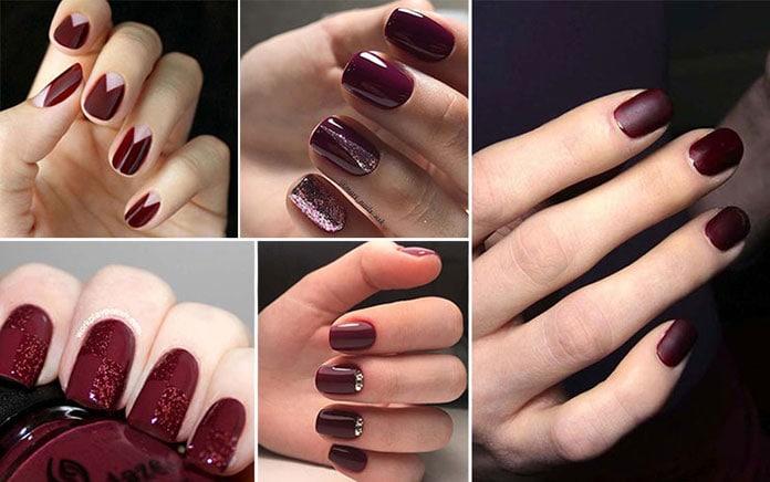 Burgundy νύχια (32)