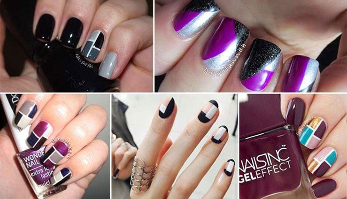 Color Block Nails (47)