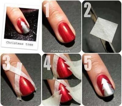 Nail art σχέδια για χριστουγεννιάτικα μανικιούρ στο σπίτι (8)