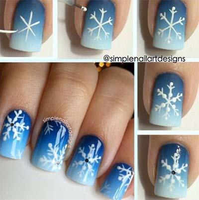 Nail art σχέδια για χριστουγεννιάτικα μανικιούρ στο σπίτι (13)