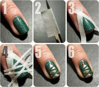 Nail art σχέδια για χριστουγεννιάτικα μανικιούρ στο σπίτι (14)