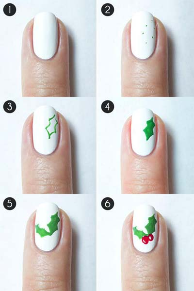 Nail art σχέδια για χριστουγεννιάτικα μανικιούρ στο σπίτι (15)