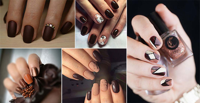 Καφέ νύχια (2)