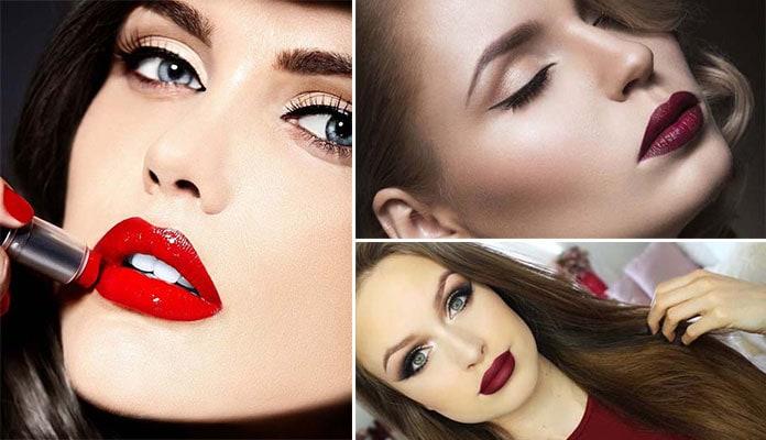 Μακιγιάζ με κόκκινο κραγιόν για σαγηνευτικά χείλη (1)