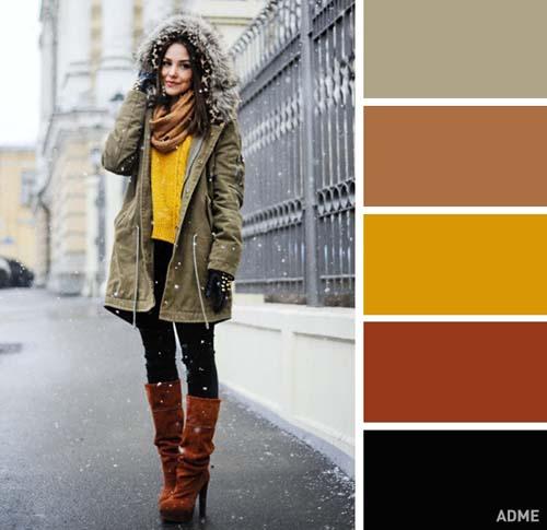 Χρωματικοί συνδυασμοί για χειμωνιάτικο ντύσιμο (2)