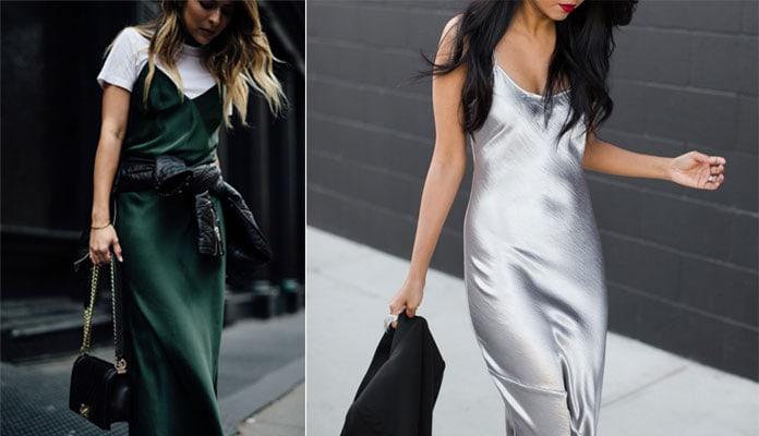 2b3f22dd5060 Η απλότητα και η κομψότητα, σε συνδυασμό με την θηλυκότητα που αποπνέει το  απλό, αλλά κατά τα άλλα chic και αέρινο slip dress, το καθιστά ως ένα  πασπαρτού ...