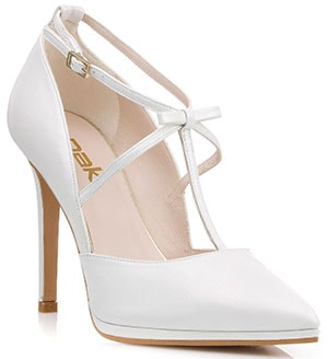 3a3f37709ab Άσπρα ψηλοτάκουνα νυφικά πέδιλα – Dukas Νυφικά παπούτσια (27)
