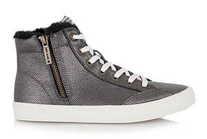 533b788454 Ασημί μποτάκια Pepe Jeans sneakers με διακοσμητικά κορδόνια και φερμουάρ  στο πλάι – Tsakiris Mallas ...