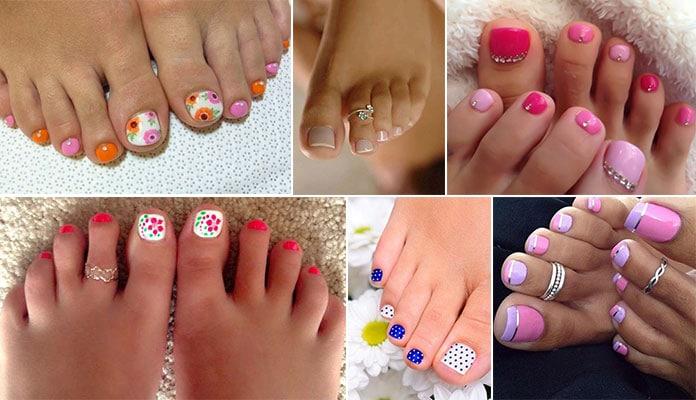 Σχέδια για νύχια ποδιών - Πεντικιούρ για Άνοιξη (1)
