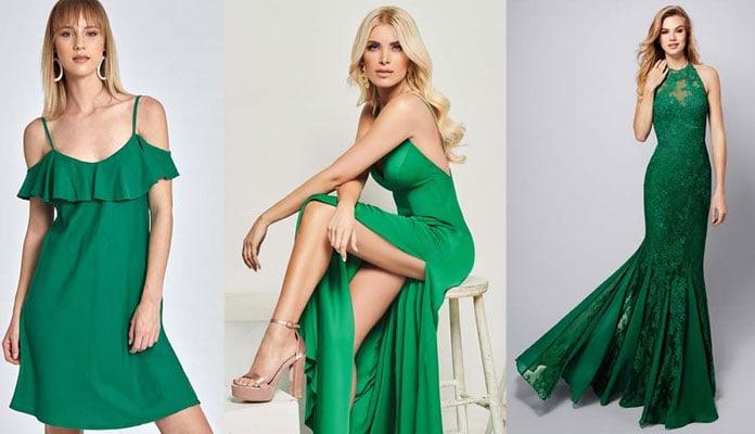 1b9adf359042 Προτάσεις για σμαραγδί φόρεμα και πως να το συνδυάσετε