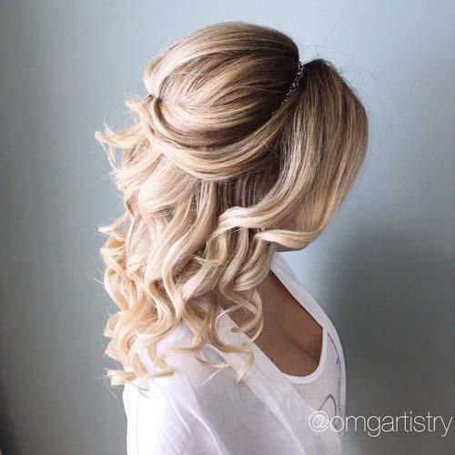 ac4289f41559 60+ εντυπωσιακά χτενίσματα για γάμο ανάλογα με το μήκος στα μαλλιά