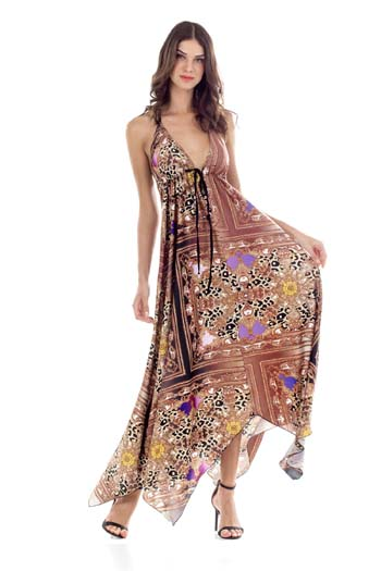 71b1b7ac5272 Εμπριμέ μακρύ βραδινό καφτάνι φόρεμα με έναν ώμο – Georgia Vlachou Καφτάνια  (20)