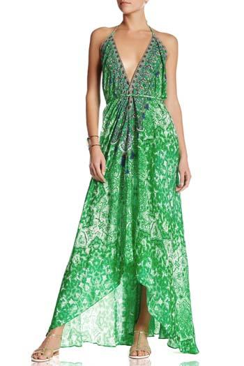 d2b8a965e638 Μακρύ printed καφτάνι φόρεμα με σκίσιμο στο πλάι – Georgia Vlachou Καφτάνια  (25)