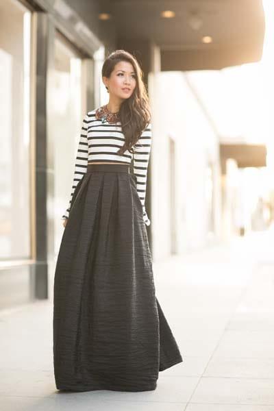 50 εντυπωσιακοί συνδυασμοί με ψηλόμεση φούστα - Beauté την Κυριακή ba1a1407b7f