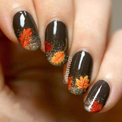 Σχέδια για φθινοπωρινά νύχια (21)
