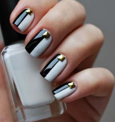 Ασπρόμαυρα σχέδια στα νύχια (1)