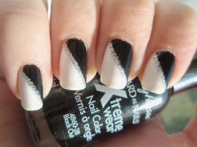 Ασπρόμαυρα σχέδια στα νύχια (10)