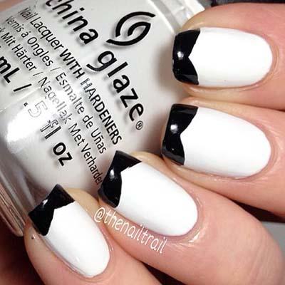 Ασπρόμαυρα σχέδια στα νύχια (13)