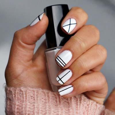 Ασπρόμαυρα σχέδια στα νύχια (14)