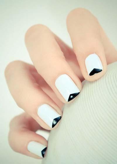 Ασπρόμαυρα σχέδια στα νύχια (20)