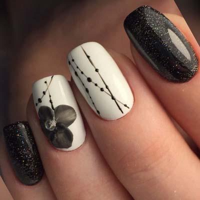 Ασπρόμαυρα σχέδια στα νύχια (22)