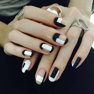 Ασπρόμαυρα σχέδια στα νύχια (31)