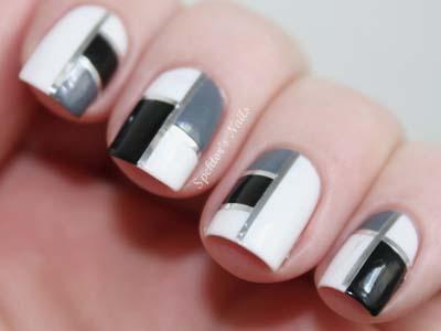 Ασπρόμαυρα σχέδια στα νύχια (39)